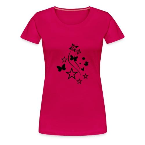 Stars & Butterflies (black) - Women's Premium T-Shirt