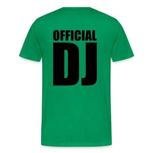 Official DJ (back) - Herre premium T-shirt