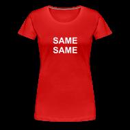T-Shirts ~ Frauen Premium T-Shirt ~ Über dem Wort steht die Tat. über der Tat steht der Gedanke