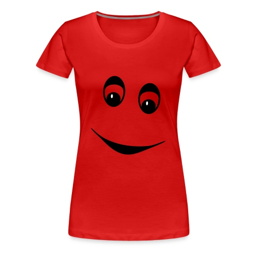 Frauen - Shirt – Lächeln schwarz/weiß - Frauen Premium T-Shirt