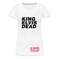 T-Shirts ~ Women's Premium T-Shirt ~ King Elvis Dead