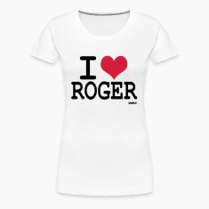 Blanc i love roger (federer tribute) T-shirts