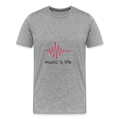 Music is Life - Camiseta premium hombre