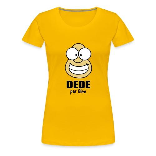 Tshirt Femme - Jaune - T-shirt Premium Femme