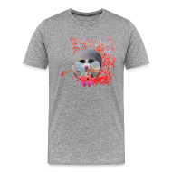 T-shirts ~ Herre premium T-shirt ~ I like the flowers, t-shirt