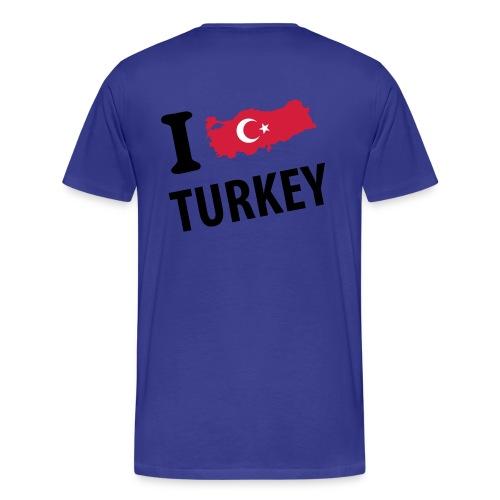 I LOVE TURKEY  - T-shirt Premium Homme