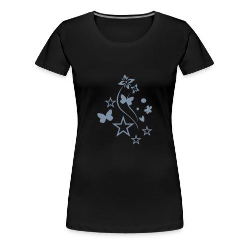 Stars & Butterflies (silver) - Women's Premium T-Shirt