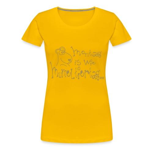 Murmeltiertag yellow gold sparkle - Frauen Premium T-Shirt