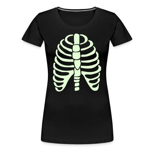 glow bones - Women's Premium T-Shirt