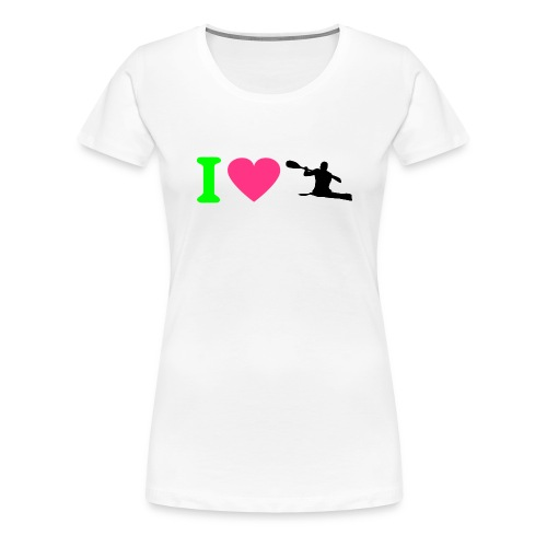 Love kayak - Camiseta premium mujer