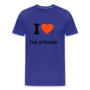 I Love The Straws - T-shirt Premium Homme