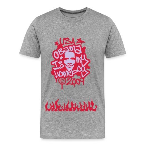 OBAMA GRAFFITI - Men's Premium T-Shirt