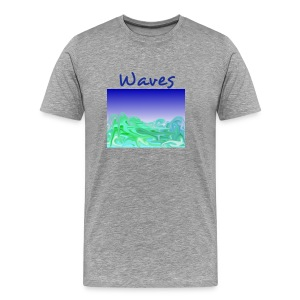 Waves grey - Männer Premium T-Shirt