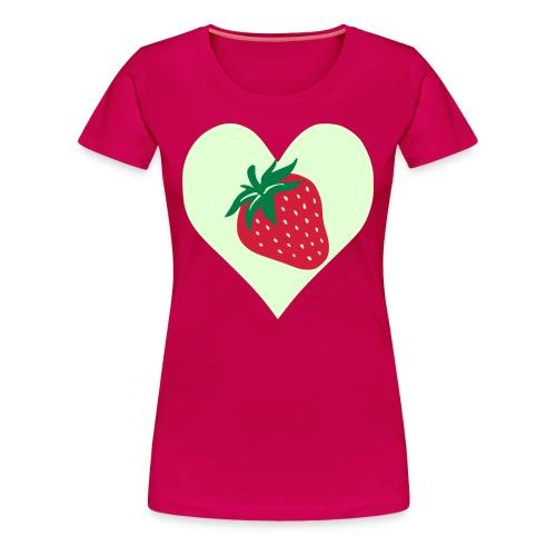 Love Strawberry - Premium T-skjorte for kvinner