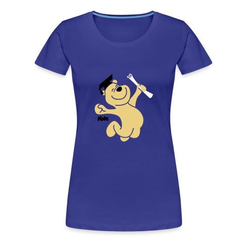 Diplombär,basic w blau - Frauen Premium T-Shirt