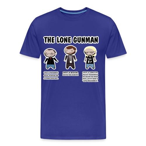 Camiseta Expediente X, Lone Gunman - chico manga corta - Camiseta premium hombre