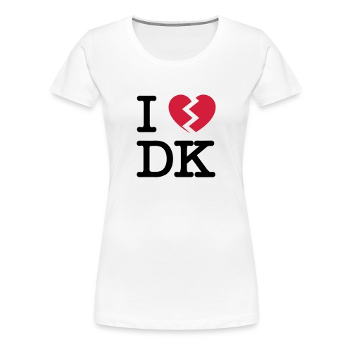 I [heartbroken] DK - Dame premium T-shirt