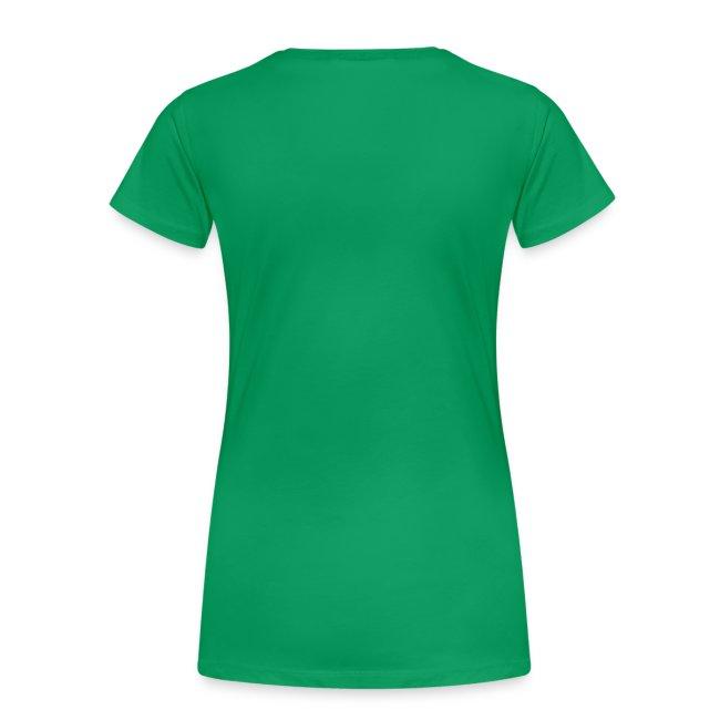 Girlieshirt grün mit Comic Maus
