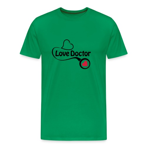 Love doctor (black & red) - Men's Premium T-Shirt