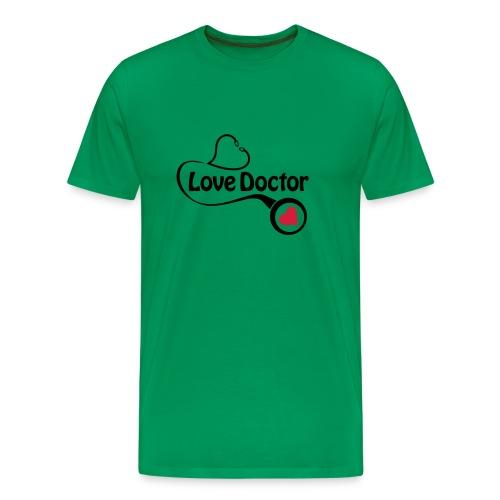 Love doctor (black & red) - Men's Premium T-Shirt