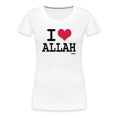 White i love allah by wam Women's T-Shirts