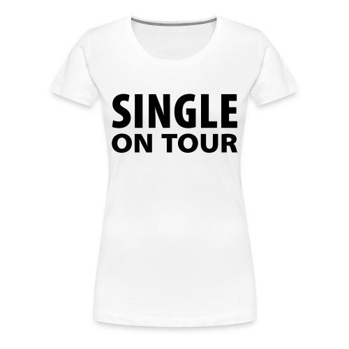 Singel on Tour - Dame premium T-shirt