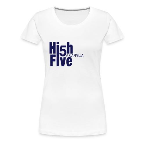 T-Shirt (w) weiß/navy - Frauen Premium T-Shirt