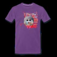 T-shirts ~ Herre premium T-shirt ~ I like the flowers, t-shirt