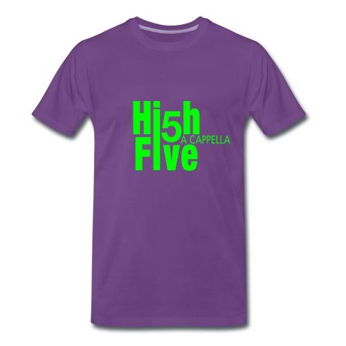 T-Shirt (m) indigo/neongrün - Männer Premium T-Shirt