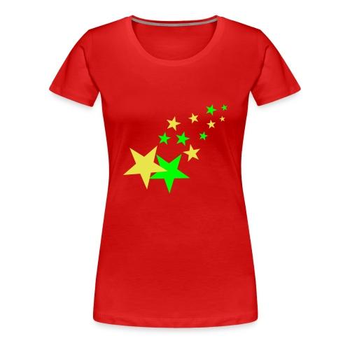 Girlieskjorte Stars - Premium T-skjorte for kvinner