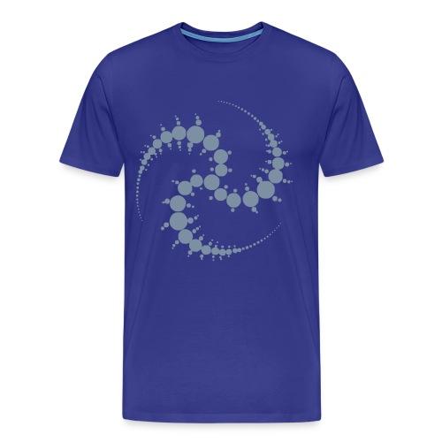 Cropcircle / Kornkreis - T-Shirt (silver) - Männer Premium T-Shirt