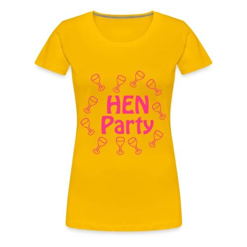 hen party bride support - Women's Premium T-Shirt