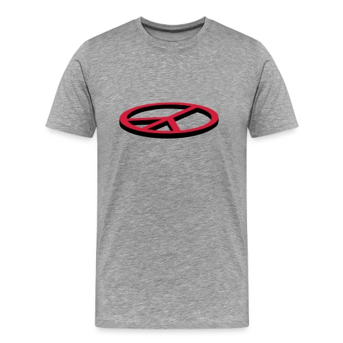 Herrtröja med peacemotiv - Premium-T-shirt herr