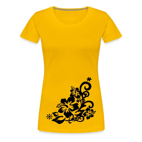 Hibiscus (black) - Women's Premium T-Shirt