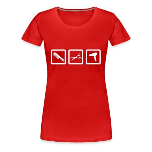 coiffure mode - T-shirt Premium Femme