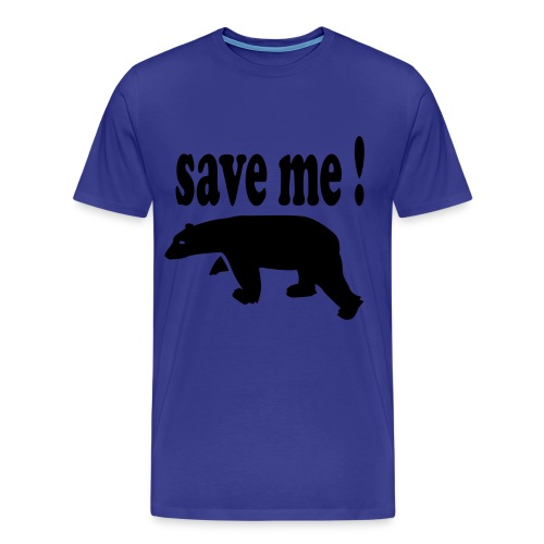 Save the ice bear - Premium T-skjorte for menn