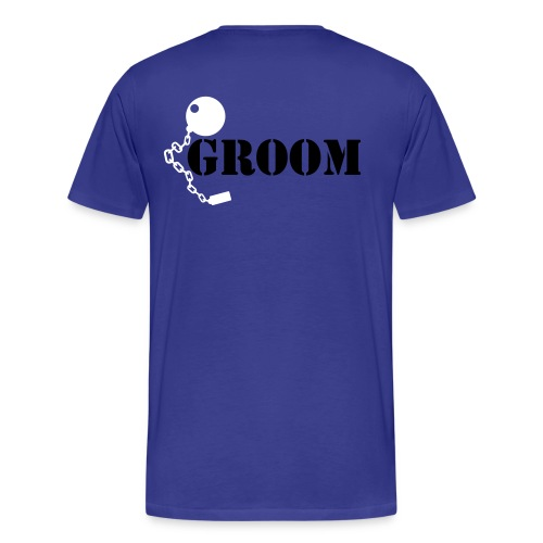 tying the knot groom  - Men's Premium T-Shirt