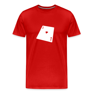 Burgundy red poker Men's T-Shirts