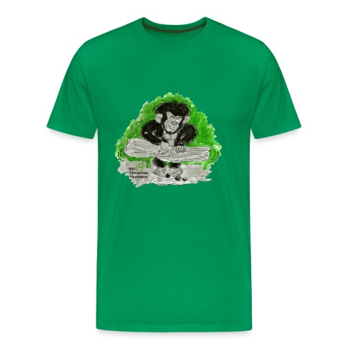 Chimpanzee nut cracking Men's Basic T-Shirt - Men's Premium T-Shirt