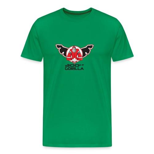 Green 300ft Gorilla Logo T-Shirt - Men's Premium T-Shirt