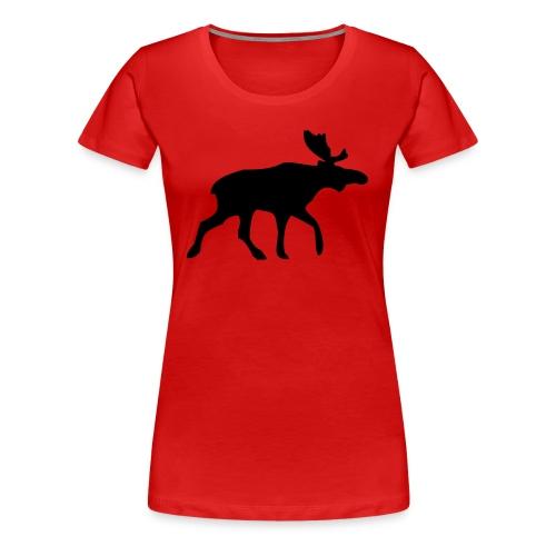 Punainen naisten t-paita - Naisten premium t-paita