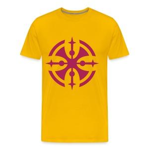 tribal orange rot - Men's Premium T-Shirt