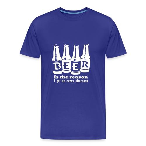 BEER (White) - Herre premium T-shirt