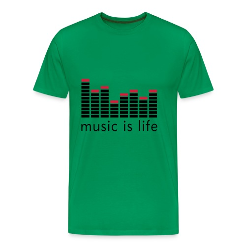 Music Is Life - Herre premium T-shirt