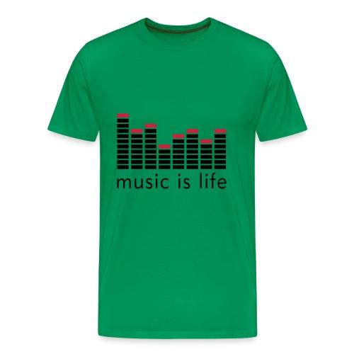 Music Is Life - Herre premium T-shirt