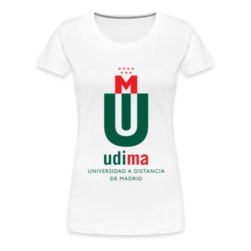 Camiseta mujer UDIMA color - Camiseta premium mujer