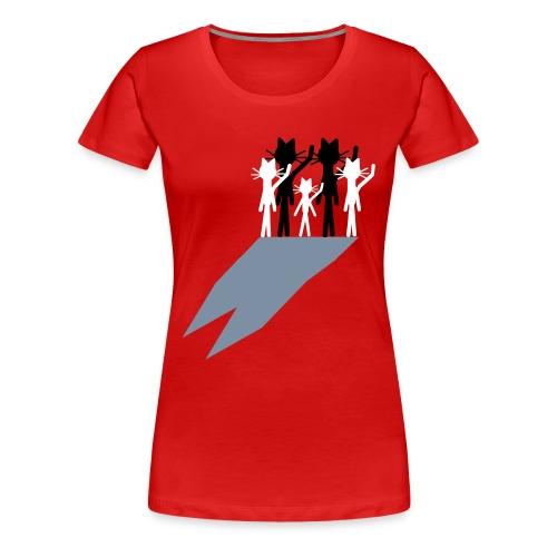 Katzenshirt Kittycat Domschatten - Frauen Premium T-Shirt