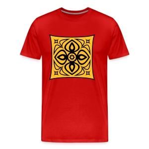 ornament orange rot - Men's Premium T-Shirt