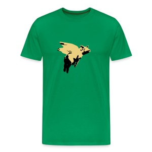 Swine Flew - Men's Premium T-Shirt