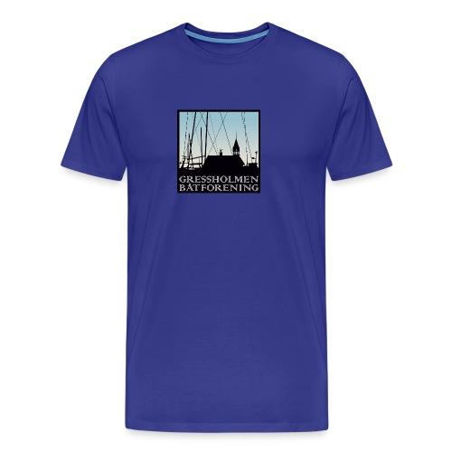 herre, lys blå - Premium T-skjorte for menn